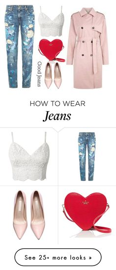 """""""distressed jeans."""" by dada-kozakova on Polyvore featuring Polo Ralph Lauren, Kate Spade, women's clothing, women, female, woman, misses and juniors"""