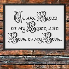 From the incredible book series and now a hit TV show, this is a gorgeous quote from James Frasers wedding vows in Outlander. Ye are Blood of my