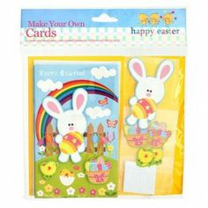 Make your own Easter Cards. Each kit makes 5 cards. Browse our wide range of Easter decorations and crafts. Hoppy Easter, 70th Birthday, Bake Sale, Wonderful Things, Easter Crafts, Make Your Own, Fun, Cards, Range