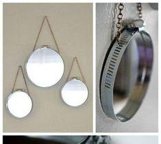 DIY Home Decor: DIY Industrial Hose Clamp Mirrors