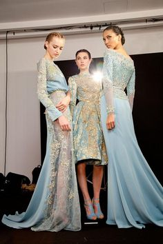 backstage at Elie Saab
