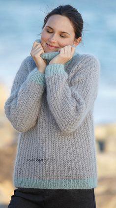 Breien. Deze trui is gemaakt met Katia Concept Aire. Katia Aire is een zeer fijne kwaliteit, een mengeling van Baby Alpaca en Super Kid Mohair. Verkrijgbaar in 12 kleuren.  Model en patroon staan beschreven in het patronenboek Katia Concept 2 (model 26). Katia CONCEPT 2 pag 22akopie.jpg