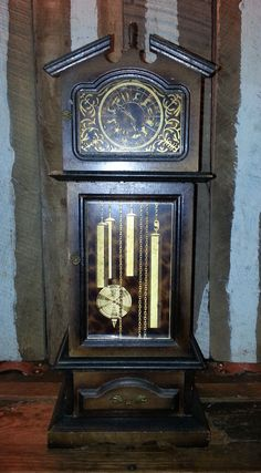 Vintage London Leather Co Wooden Musical Grandfather Clock Style Jewelry Stash…