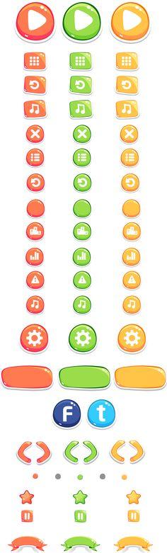Tiny Traffic Mania ...@tonyCM采集到game_button(22图)_花瓣UI 交互设计