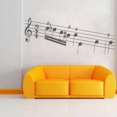Decora las paredes de tu hogar con #adhesivos originales de música y aporta alegría a las estancias. #goodvinilos #vinilosdecorativos #decoración