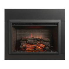 The Outdoor GreatRoom Company Zero Clearance Surround for Electric Fireplace Metal Trim Kit Size: 2 Metal Fireplace, Fireplace Set, Trim Kit, Fireplace Surrounds, Wood Pergola, Fireplace Tool Set, Metal Trim, Fireplace, Fireplace Inserts