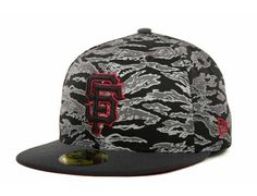 Custom NEW ERA x MLB「SF Giants Tiger Camo」59Fifty Fitted Baseball Cap