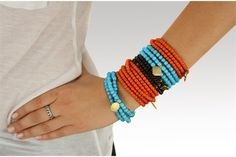 Wrap Bracelets with Charm - we can make these!! beads, elastic, clasps, and a charm or two