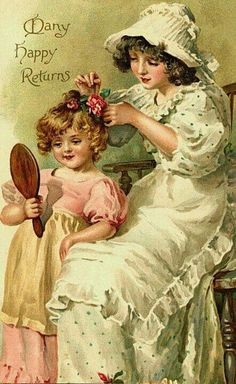 Sweet memories of my sister Rosie, combing my hair. She loved to set and comb out our hair and I loved her doing it!