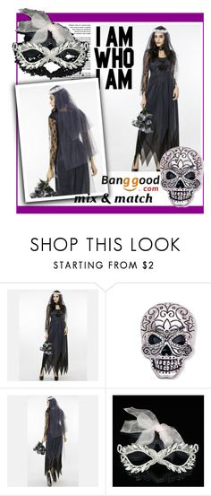 """Halloween costume by Banggood 13"" by danijela-3 ❤ liked on Polyvore featuring Masquerade and BangGood"