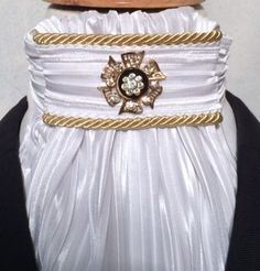 Euro style.  Shown with vintage gold pin with black center disc and clear rhinestones. Check out the vintage pin section to see many pins which would complete this look.