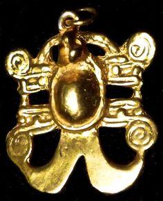COSTA RICO GOLD MUSEUM REPLICA GOLD FROG INCA PRE COLOMBIAN