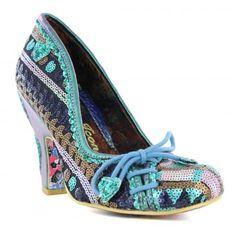 Irregular Choice Flexi Lexi 4135-17H Womens High Heel Court Shoes - Green Multi