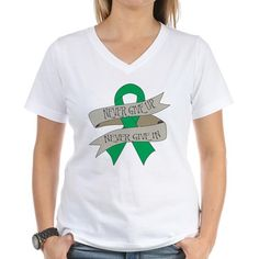 Never Give Up and Never Give In Liver Cancer Shirt  #livercancerawareness