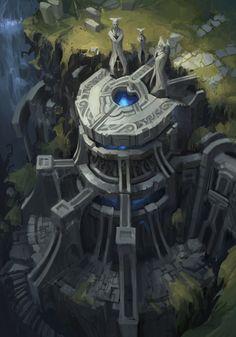 Rune gate spirit realm, David Ko on ArtStation at https://www.artstation.com/artwork/rune-gate-of-the-spirit-realm