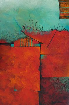 No Day Without Art by Nancy Eckels: Impending by California artist Nancy Eckels - abstract, contemporary, modern art, painting