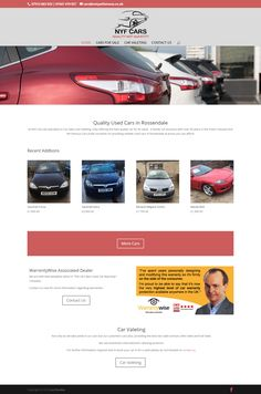 Car Valeting and Car Sales Website