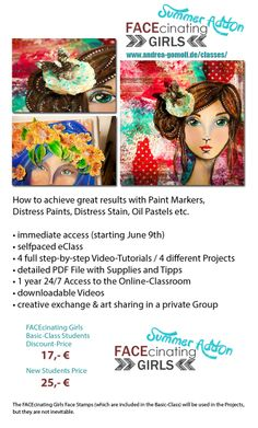 FACEcinating Girls - Summer AddOn - Online Class by Andrea Gomoll http://andrea-gomoll.de/facecinatinggirls_summer/