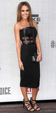 Look of the Day - June 9, 2014 - Jessica Alba in David Koma from #InStyle