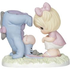Precious Moments® Winnie the Pooh Eeyore and Girl Figurine, Precious Moments Quotes, Disney Precious Moments, Precious Moments Figurines, Winnie The Pooh Figurines, Disney Figurines, Collectible Figurines, Biscuit, Winnie The Pooh Friends, Friendship Gifts