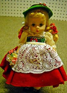 Vinage 1970s Madame Alexander Dolls of The World Swiss 8 inch Doll | eBay