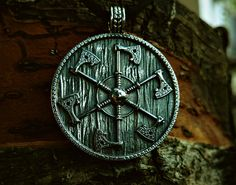 Thunder shield of Perun (Gromovnik, Yarovrat) Slavic Axes Pendant Amulet Sterling Silver Necklace  Norse Jewelry