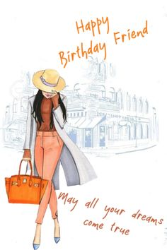 Birthday Ecards for Females Happy Birthday Greetings Friends, Happy Birthday To Her, Happy Birthday Ecard, Happy Birthday Flower, Birthday Wishes Messages, Happy Friends, Happy Birthday Images, Friend Birthday, Birthday Pins