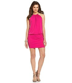 Jessica Simpson Halter Blouson Dress #Dillards