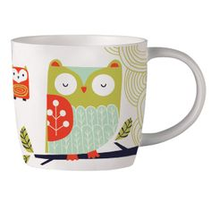 Folkland Owl Mug-- I would love a set of kitchy dishes, and even better if I could find OWL dishes, I love them!