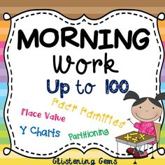 Morning Work- Numbers to 100 - Printables for a Month! Each Number pack includes: graphic organisers, place value, partitioning, expanded form and fact families.   This number pack includes a selection of numbers up to 100. It is designed for students in Year one to two depending on their ability level. The worksheets are great for morning work, maths centers, homework or independent work.   By undertaking these number activities daily for a month, students are consolidating their number…