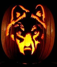 Wolf Pumpkin by Megan Granata