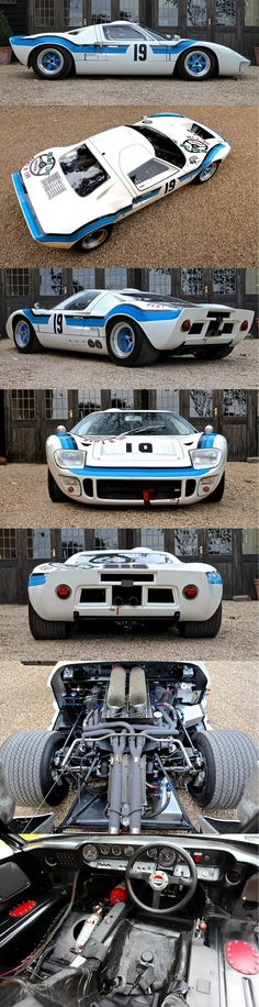 1969 Ford GT40 Mk 1 this is the racing model that was redesigned in 2010 only 1k were created and sold its a collectors edition but how do you put it into the garage to stare at when it's buckled down with 1024hp?!