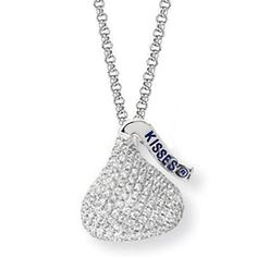 Sweet!  Hershey's Kiss Pendant.  I would love this for #valentines #jewelry #hersheys