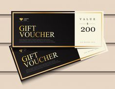 Gift Voucher Template With Glitter Gold Luxury Elements. Subway Gift Card, Gift Vouchers, Free Vouchers, Gift Voucher Design, Gift Card Template, Gift Coupons, Name Gifts, 21st Gifts, Coupon Template