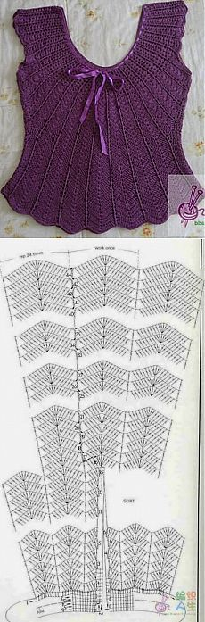 Franela crochet morada