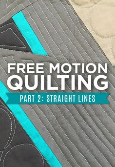 Easy quilting tutorial, free from Man Sewing.
