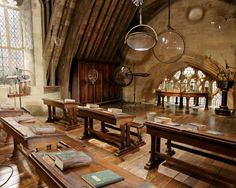 """I am posting a picture of Professor Moody's classroom from Harry Potter and the Goblet of Fire. This class in particular was very student-centered as there were a multitude of opportunities for hands-on lessons. """"Professor Moody"""" thought that demonstrations and real- life examples were the tools for helping students learn most effectively."""