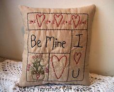 Valentines primitive Stitchery....