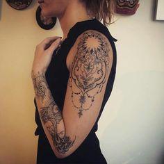 Extrem coole Full-Arm-Tattoo-Ideen für Mädchen, um sich 2019 vorzustellen – … – Tricks for Easier Life Extremely cool full arm tattoo ideas for girls to introduce themselves in 2019 – … – Tricks for Easier Life – # cool Tattoo Girls, Body Tattoo For Girl, Full Body Tattoo, Full Sleeve Tattoos, Sleeve Tattoos For Women, Cute Tattoos, Beautiful Tattoos, Body Art Tattoos, Girl Tattoos