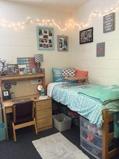 Dorm ideas, cute dorm rooms, teal dorm rooms, dorm room themes, p Dorm Room Desk, Dorm Room Themes, Dorm Room Bedding, Dorm Room Designs, Cute Dorm Rooms, Desk Bed, Girl Bedding, Lap Desk, Bedding Sets