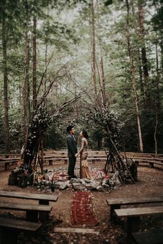 Eclectic Prince William Forest Park Wedding is Just Ridiculously Beautiful Beautiful forest-inspired wedding ceremony arch Pagan Wedding, Viking Wedding, Forest Wedding, Woodland Wedding Dress, Medieval Wedding, Wedding Ceremony Ideas, Wedding Venues, Wedding Reception, Woods Wedding Ideas