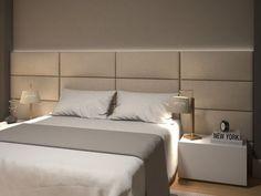 Cab. 01 Bed Headboard Design, Bedroom Furniture Design, Modern Bedroom Design, Master Bedroom Design, Headboards For Beds, Home Decor Bedroom, Appartement Design, Modern Master Bedroom, Luxurious Bedrooms