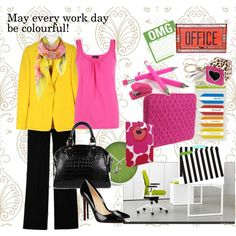 May every work day be colourful!, created by melaniemac on Polyvore