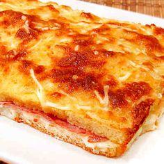 Pastel de jamón de york y queso