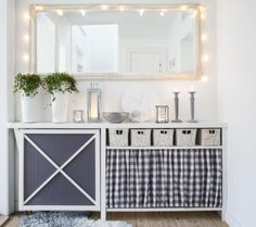 Charming sideboard with accents of grey