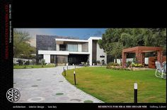 Contemporary House Design | By Sigma System Syndicate | Gulberg II, Lahore ,Pakistan Villas, Lahore Pakistan, Types Of Houses, Design Consultant, House Design, Homes, Mansions, Contemporary, House Styles
