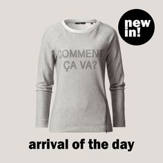 Na, wie geht's? ;-) #zero #zerofashion #sweater #statement #grey