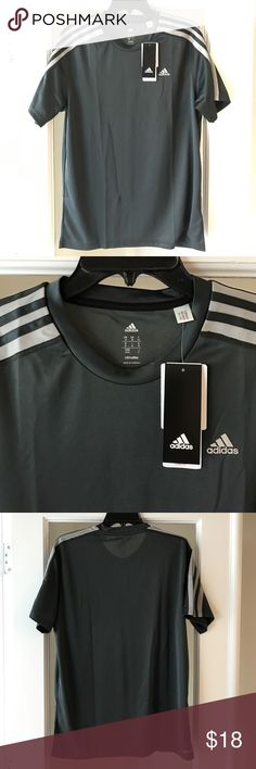 Adidas Men's Climalite Athletic T-Shirt Size M Adidas / Men's Climalite Athletic T-Shirt / Gray / NWT / 100% Polyester / 100% Authentic Adidas Shirts Tees - Short Sleeve