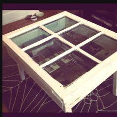 vintage window --> coffee table