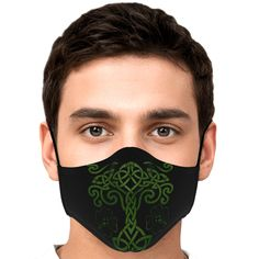 Celtic Tree of Life Face Mask Packs Mens Face Mask, Face Masks, Black Men, Black And Grey, Black And Gold Marble, Black Bullet, Celtic Tree Of Life, Before Midnight, Marble Print